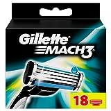 Gillette Mach3 Rasierklingen, 18 Stück, briefkastenfähige Verpackung, 1er Pack (1 x 18 Stück)