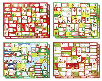 amazon com christmas holiday self stick gift sticker tags labels