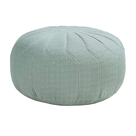 Astounding Madison Park Mp101 0213 Kelsey Round Floor Pillow Pouf Large Soft Fabric Polystyrene Beads Fill Ottoman Foot Stool 1 Piece Mid Century Modern Floral Uwap Interior Chair Design Uwaporg