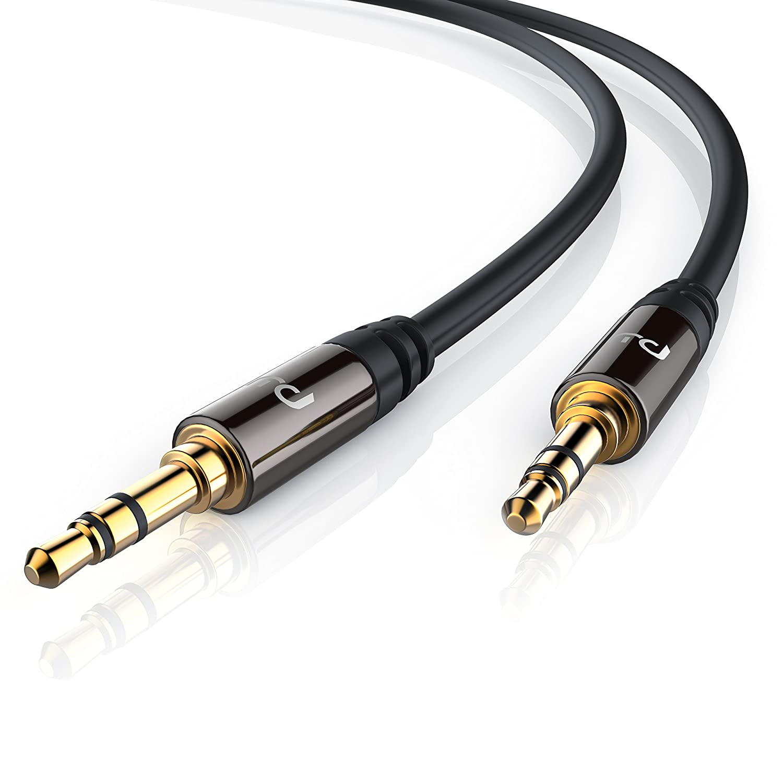Primewire - 5m Cable Auxiliar de Audio/Cable 3.5mm Jack para entradas AUX | Conector metálico de precisión | Conector 3,5 mm en Enchufe DE 3,5 mm | Serie: ...