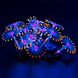 Uniclife Glowing Effect Artificial Coral Plant for Fish Tank, Decorative Aquarium Ornament