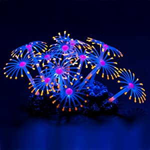 Glowing Effect Artificial Coral Plant