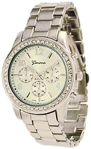 Geneva Platinum 9073.Silver Mujeres Relojes