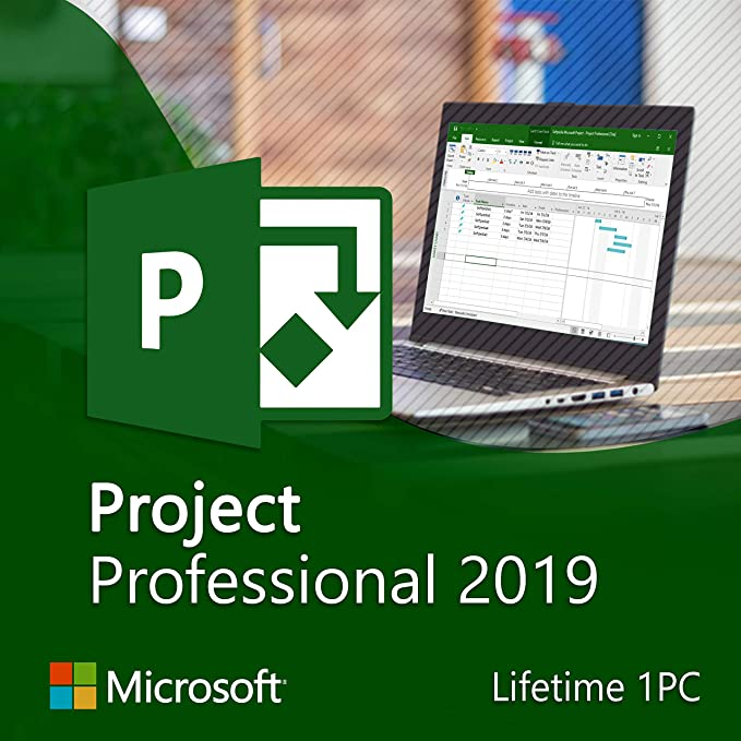 Amazon Com Ms Project Professional 2019 Pro Key Life Time License Key And Update Software
