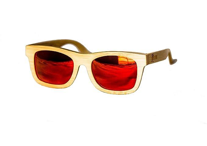 Amazon.com: anteojos de sol de bambú 100% handmade ...