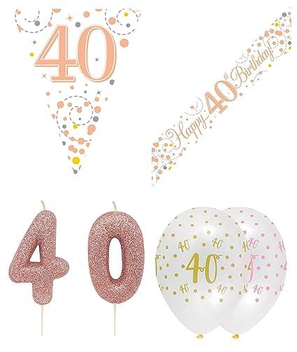 Kit de decoración para fiesta de cumpleaños 40, banderín de ...