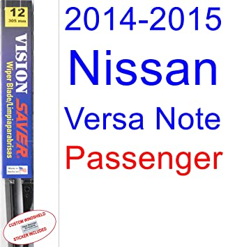 2014 - 2015 Nissan Versa Note hoja de limpiaparabrisas de repuesto Set/Kit (Saver Automotive products-vision Saver): Amazon.es: Coche y moto