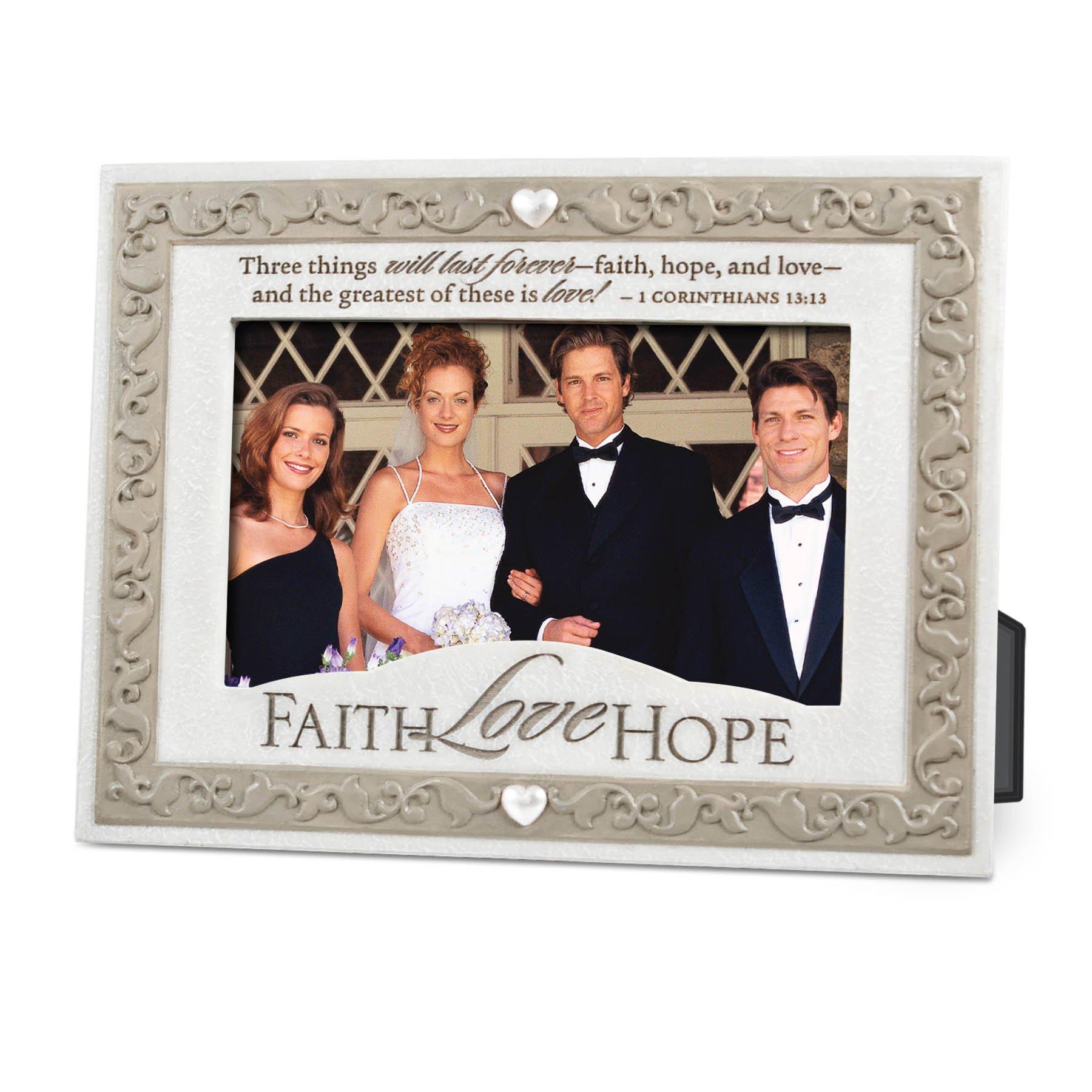 Lighthouse Christian Products Faith Hope Love Frame, 4 x 6 ''