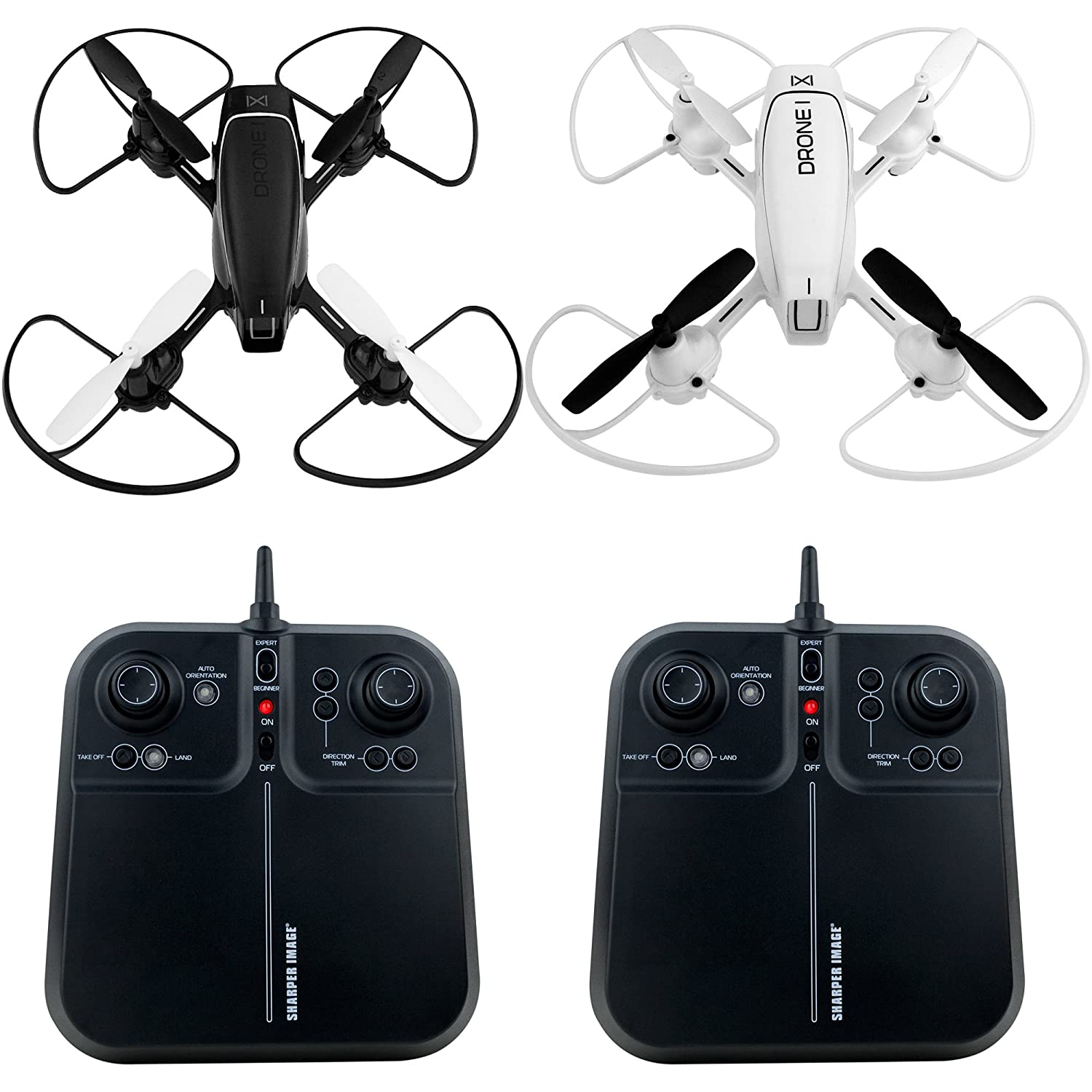 Amazoncom Sharper Image Two Pack 5 Inch Mach Racer Drones 24ghz