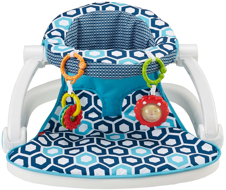 Blue Geo Fisher-Price Sit-Me-Up Floor Seat