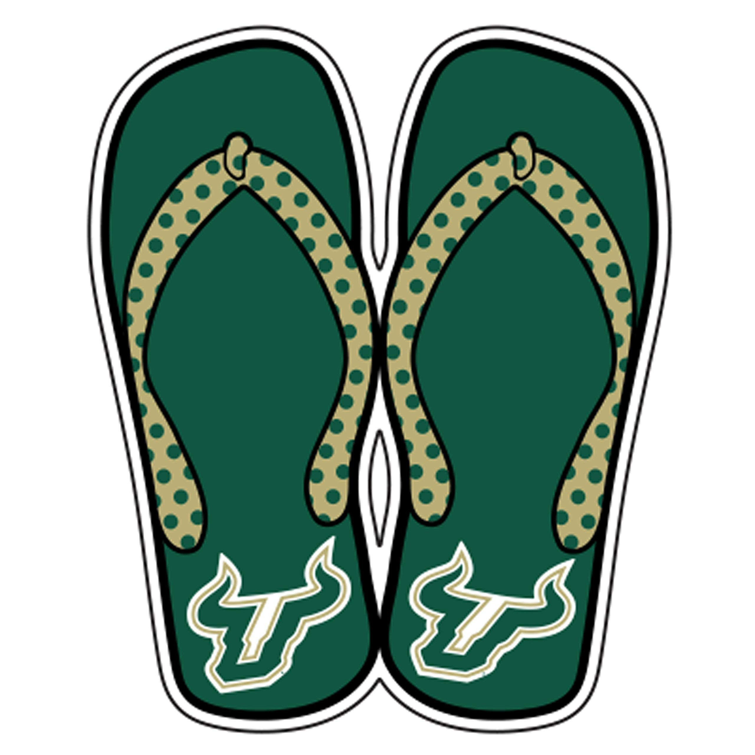 South Florida Magnet (Bull Head FLIP Flops Magnet (1''3''6''), 6'') by Craftique