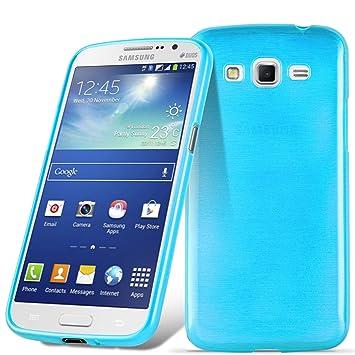 Cadorabo Funda para Samsung Galaxy Grand 2 en Turquesa - Cubierta Proteccíon de Silicona TPU Delgada e Flexible con Antichoque - Gel Case Cover ...