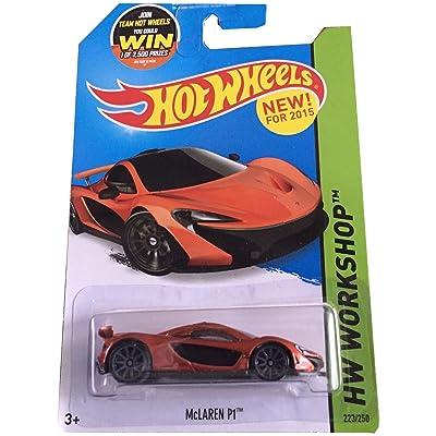 Hot Wheels 2015 HW Workshop McLaren P1 223/250, Orange: Toys & Games