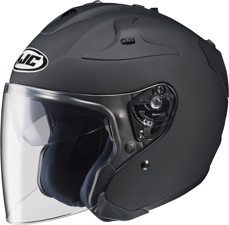 HJC FG-JET Open-Face Motorcycle Helmet (Matte Black, Large)