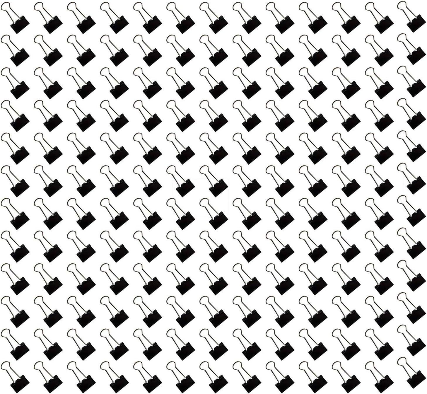 Mini Binder Paper Clips Small , Black, 180 Pack