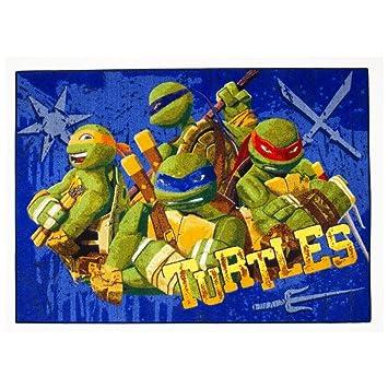 Alfombra niño la Tortugas Ninja 133 x 95 cm Disney Tough ...