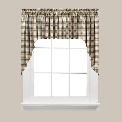 SKL HOME by Saturday Knight Ltd Dexter Curtain, Swag Pair, 57 x 35 , Green