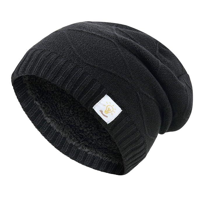 3e586fce09d1c JARSEEN Knit Slouch Trendy Beanie Hats Thick Soft Warm Winter Hats Skully  Cap for Men Women