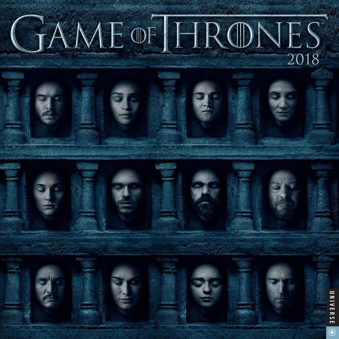 GAME OF THRONES 2018 WALL CALENDAR (Inglés) Calendario – Calendario mural, 28 jun 2017 HBO Universe Publishing 0789333295 Television - General