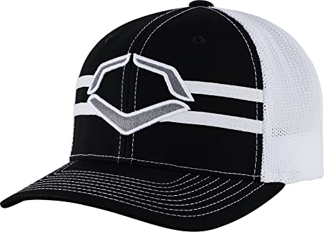 9ae3c689b87 ... official wilson sporting goods evoshield grandstand flexfit hat black  white large x 06545 e223d