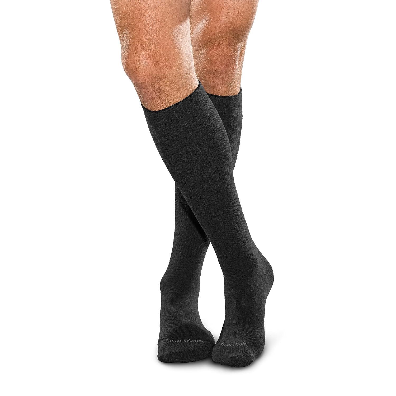 Smartknit Seamless Diabetic X-Static Socks Size, Color: Medium, Black