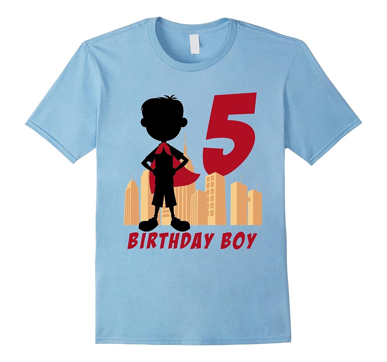 Kids 5th Birthday Comic Superhero T-Shirt for 5 Yr Old ...