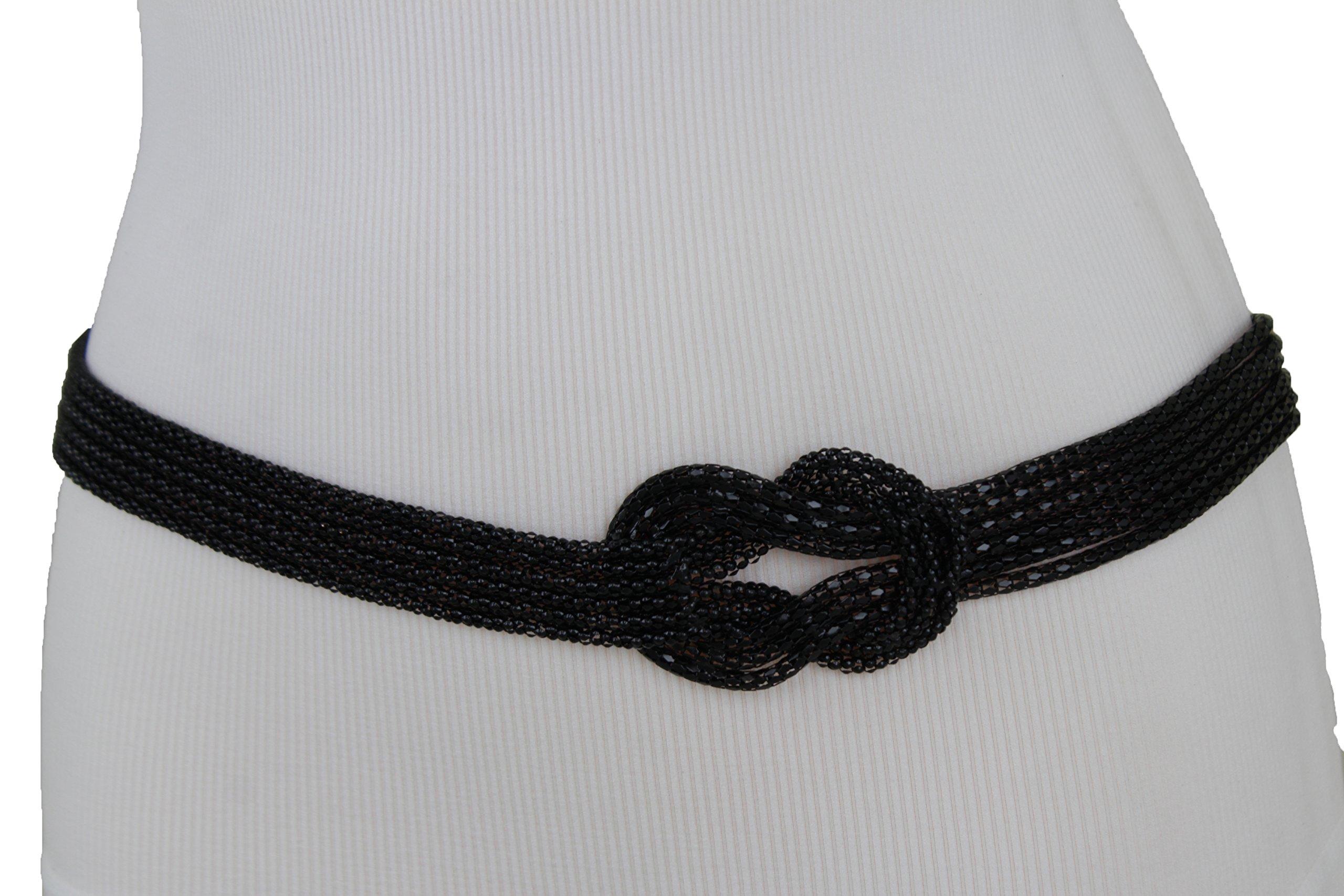 TFJ Women Fashion Belt Hip High Waist Metal Chain Balls Charms Plus M L XL Gold Color