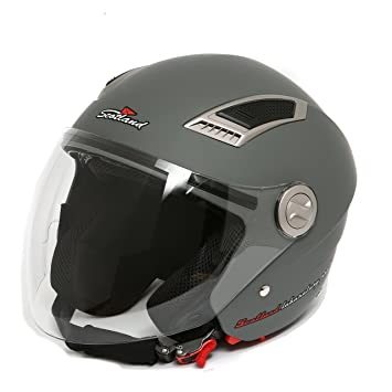 Scotland – 120009 Casco Jet Moto con doble visera, antracita mate, 57 – 58