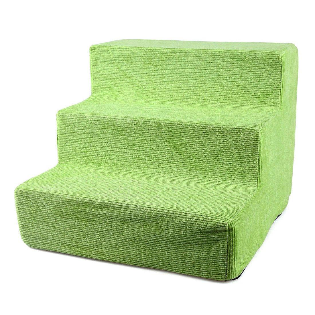 Green Freahap Pet Stair for Small Dog Cat Puppy Kitten Nonslip Dog Stair High Density Foam Green