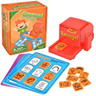 Amagoing Bazingo Sight Words Board Game, Reading Matching Educational Toys for Kindergarten and Early Readers with 8 Board Cards