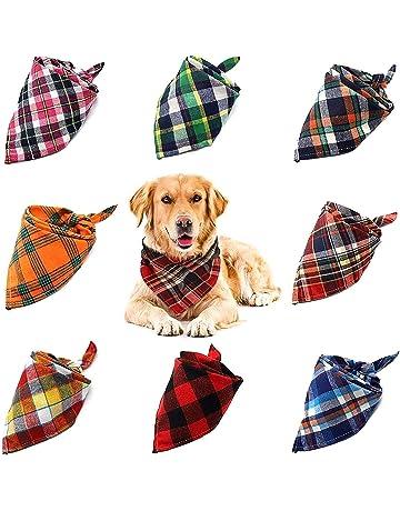 Dog neckscarf blue checkered designs,dog bandana,dog collar,gift,triangle cloth dog,dog accessories with name,buy dog stuff shop