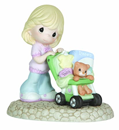 Precious Moments, Baby Gifts, Love Is On The Way , Bisque Porcelain Figurine, 122005