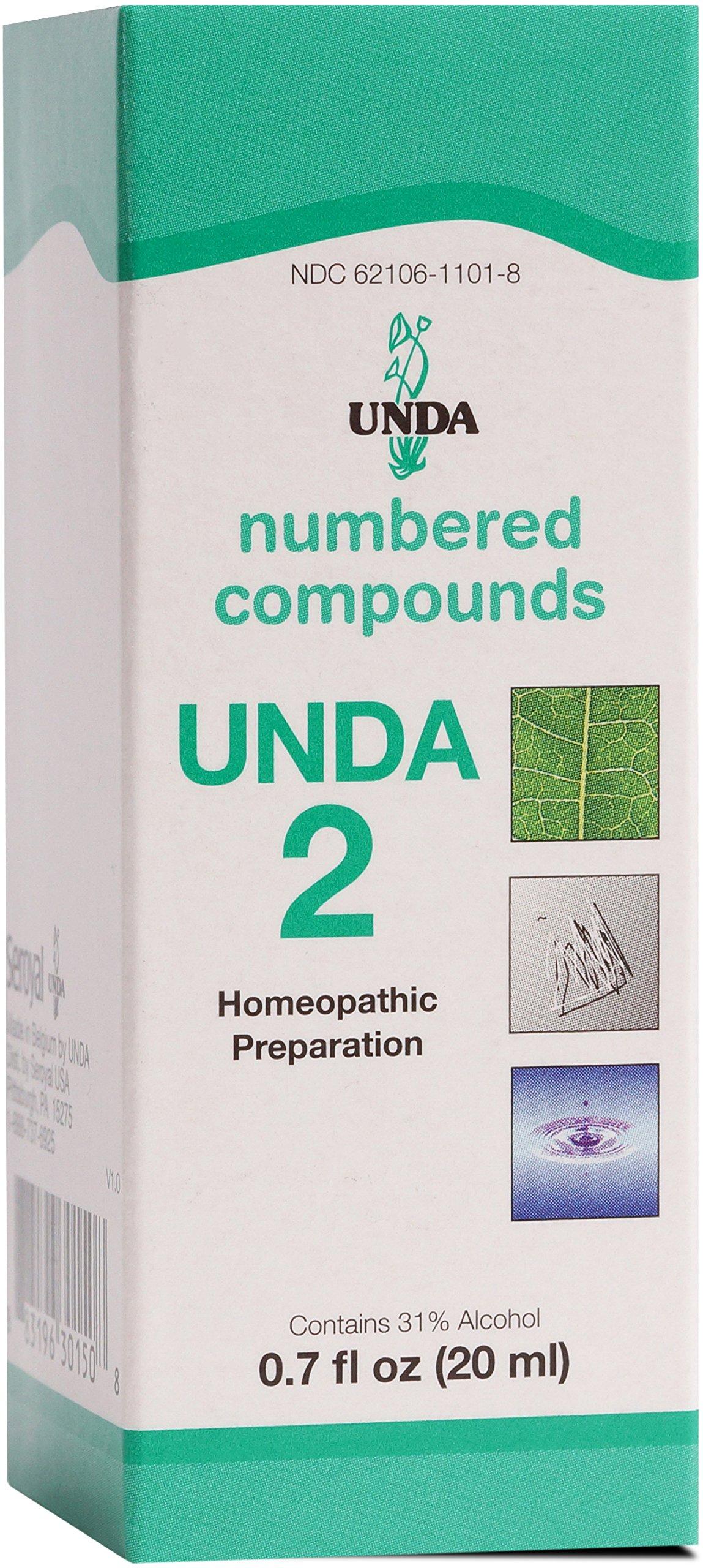 UNDA - UNDA 2 Numbered Compounds - Homeopathic Preparation - 0.7 fl. oz.