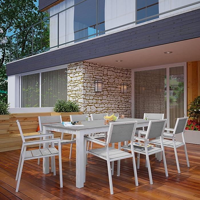 Top 10 Woodard Ramsgate Aluminum Strap Patio Furniture