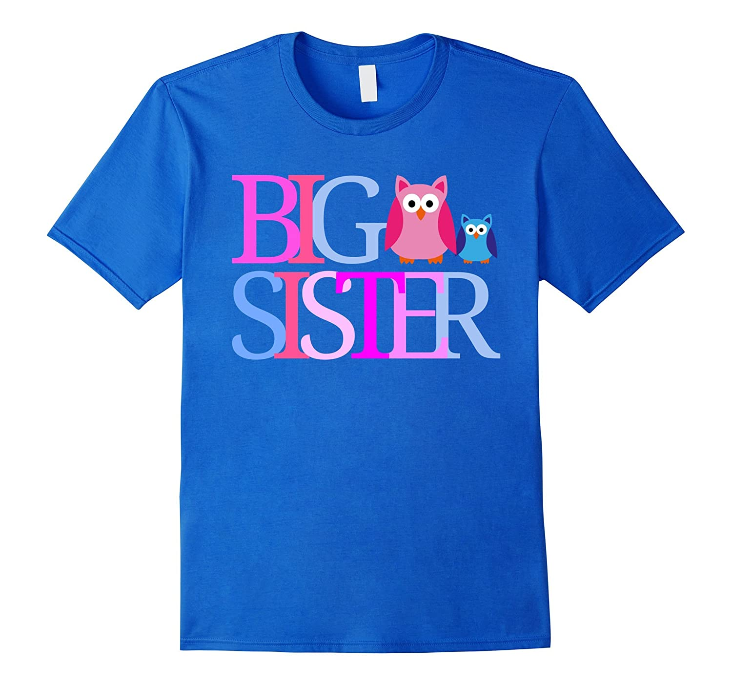 BIG SISTER T Shirt Cute Owls Tee Going To Be A Big Sister-mt