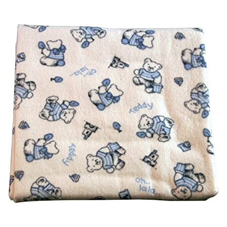 Cotonea-Lote de 2 toallas de kbA algodón 40 x 40 cm, Teddy blau