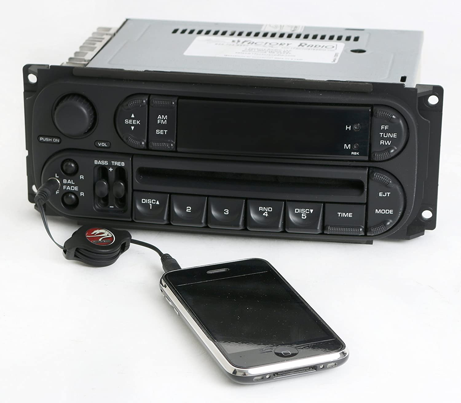 Dodge Neon 2002 05 Radio Amfm Cd Player Upgraded W Aux Car Stereo Wiring Harness Input Rbk Slider Ver Electronics
