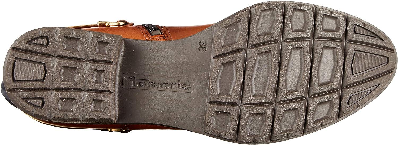Tamaris 1-1-25526-23, Bottes Hautes Femme Marron Cognac Navy 373