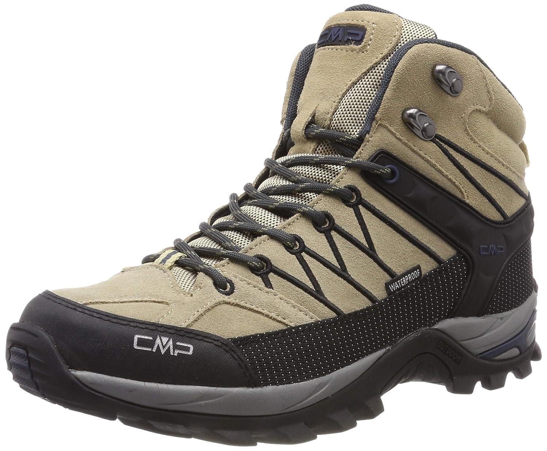 Beige (Sand-antracite 08pc) 47 EU CMP Rigel Mid, Chaussures de Trekking et randonnée Homme