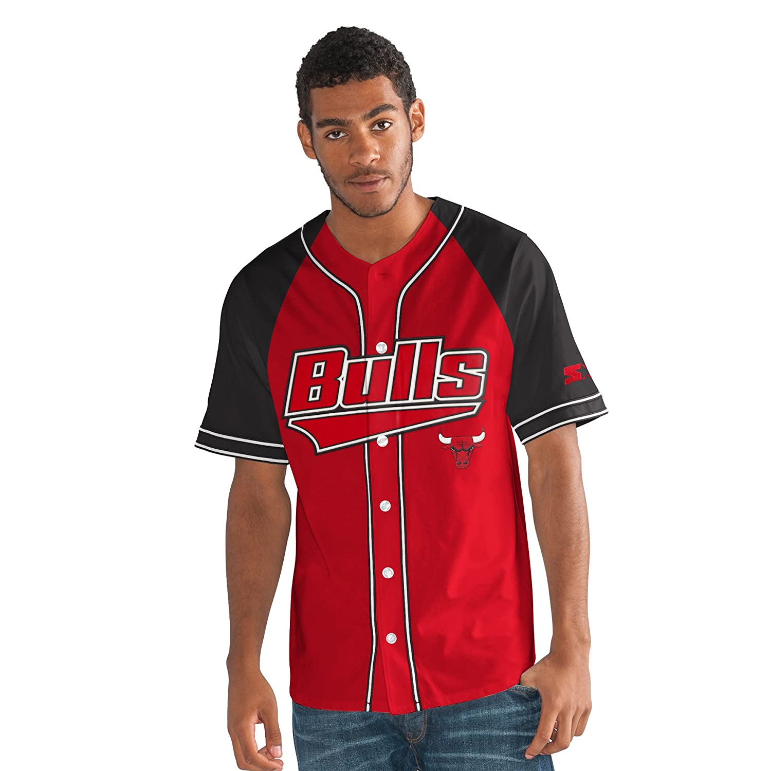 NBAメンズThe Player Baseball Jersey レッド   B075CP6D7Z