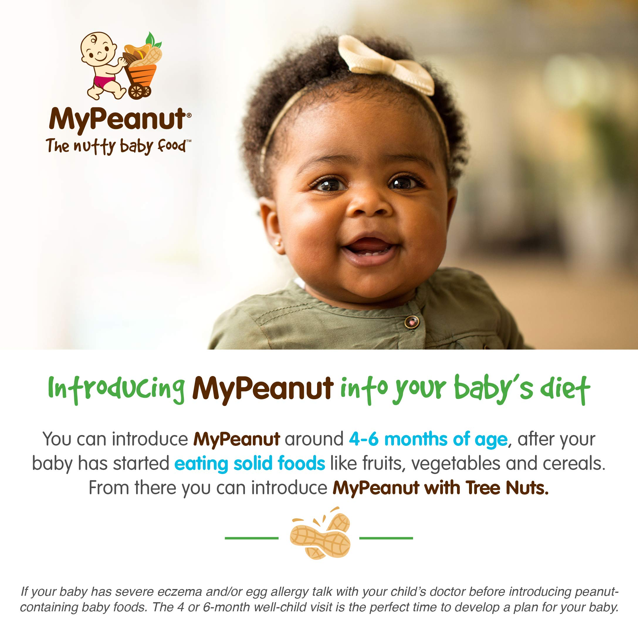 MyPeanut Baby Food, Organic Stage 1 Peanut and Apple Puree for Introducing and Feeding Babies and Toddlers Nuts, Non-GMO, BPA Free 3.5 oz Pouch, 24 Pack by MyPeanut (Image #5)