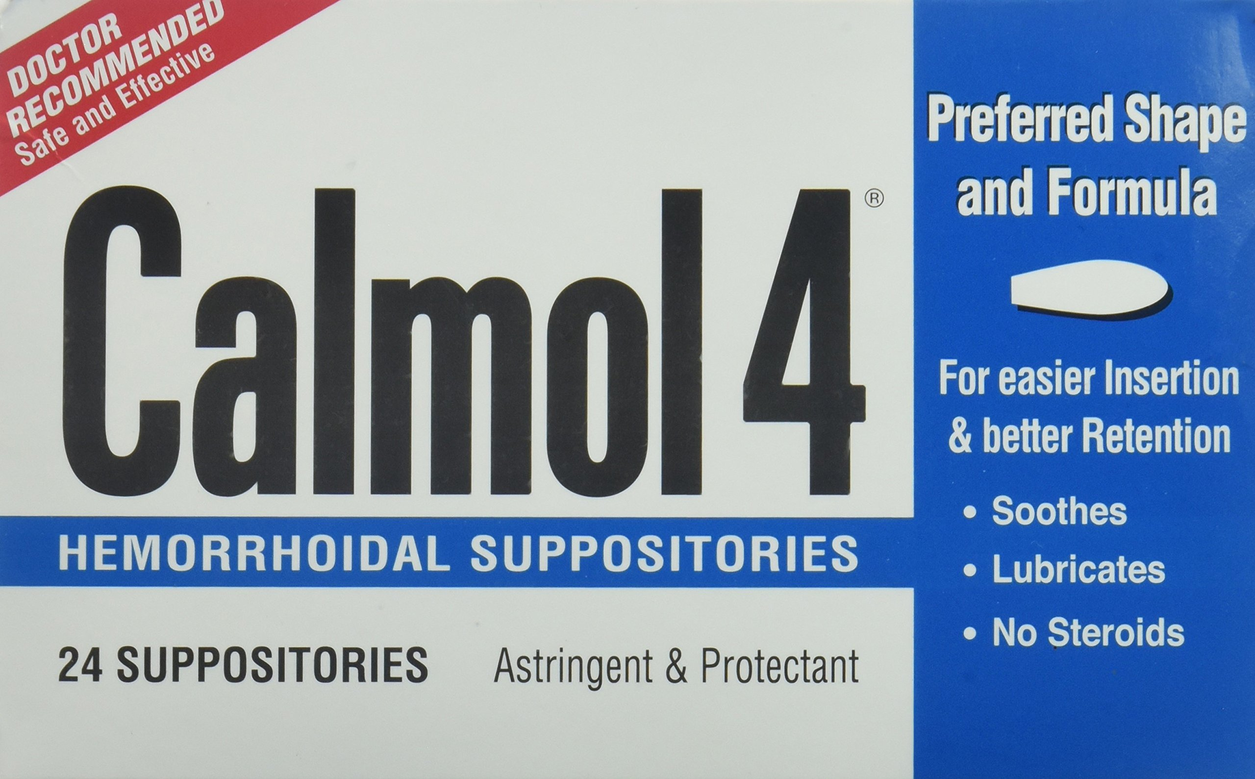 Calmol 4 Hemorrhoidal Suppositories, 3 Count by Calmol 4