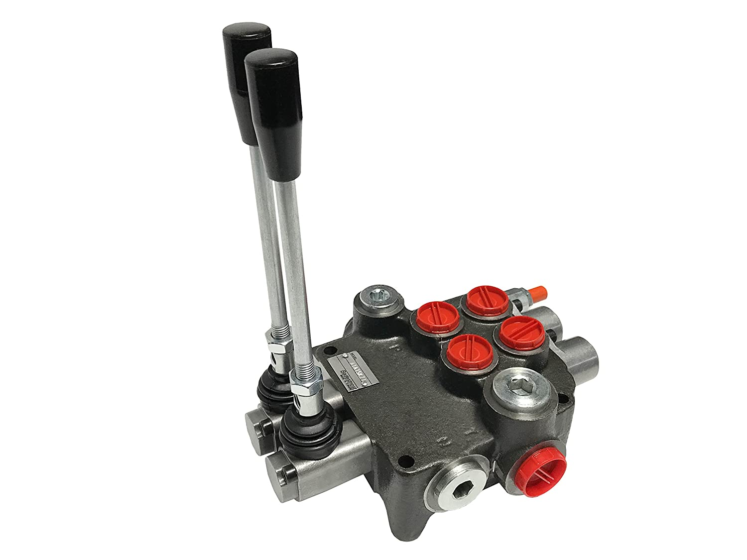 Magister Hydraulic Directional Control Valve 13 GPM with 2 Spools Monoblock 4-Way Tandem Center