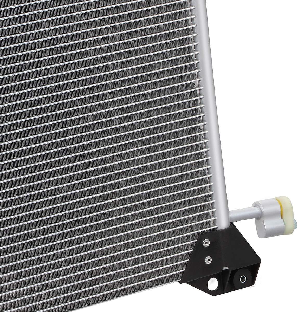DNA Motoring OEM-CDS-4953 4953 Aluminum Air Conditioning A//C Condenser For 2000-2013 CHEVROLET CADILLAC GMC HUMMER H2 Metallic
