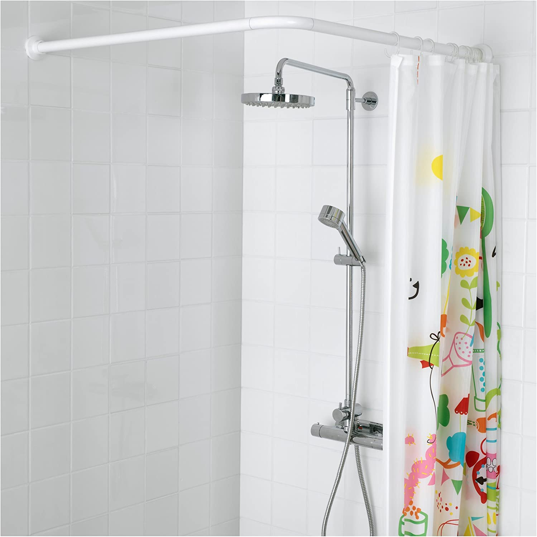 IKEA VIKARN - barra de la cortina de la ducha blanca: Amazon.es: Hogar