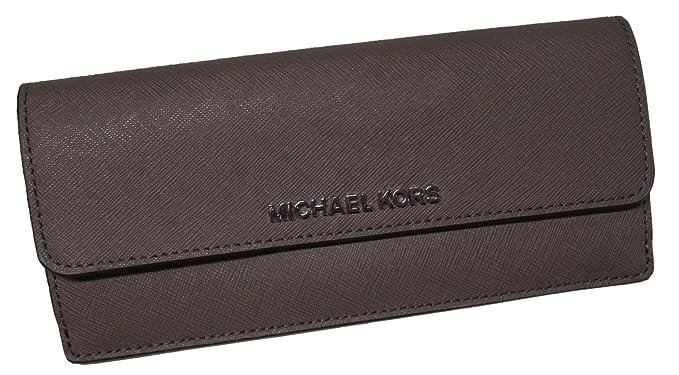 3490f102272a Michael Kors Jet Set Travel Flat Saffiano Leather Wallet Cinder/Ecru ...