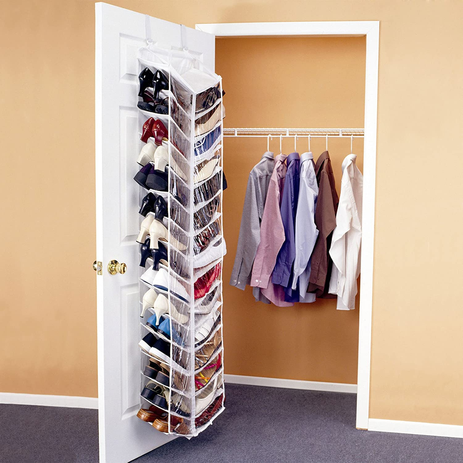 Amazon.com: Shoes Away Shoes Away Hanging Shoe Organizer: Home U0026 Kitchen