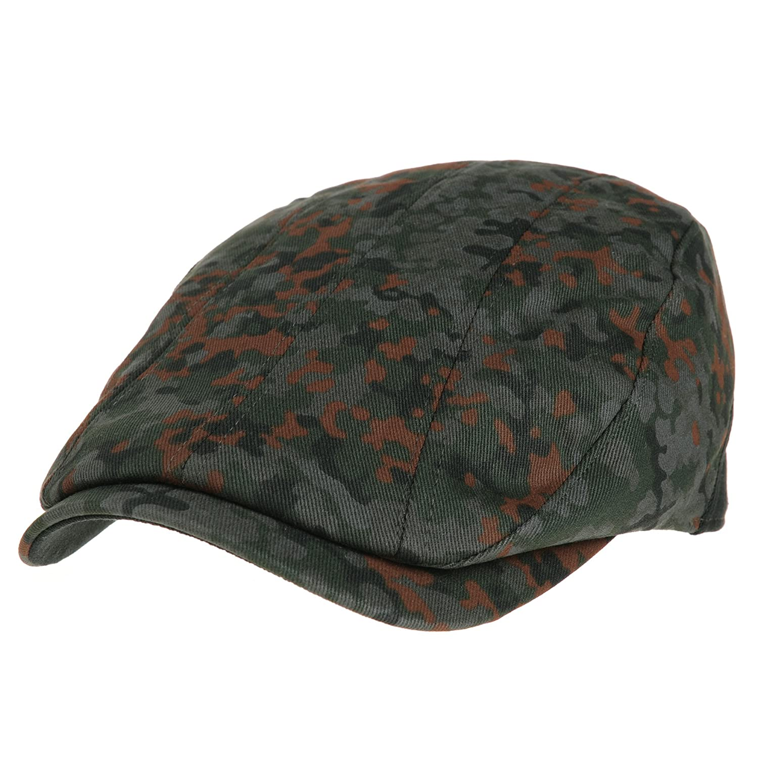 WITHMOONS Coppola Cappello Irish Gatsby Mens Flat Cap Camouflage Vertical Stitch Ivy Hat LD3438 LD3438Green
