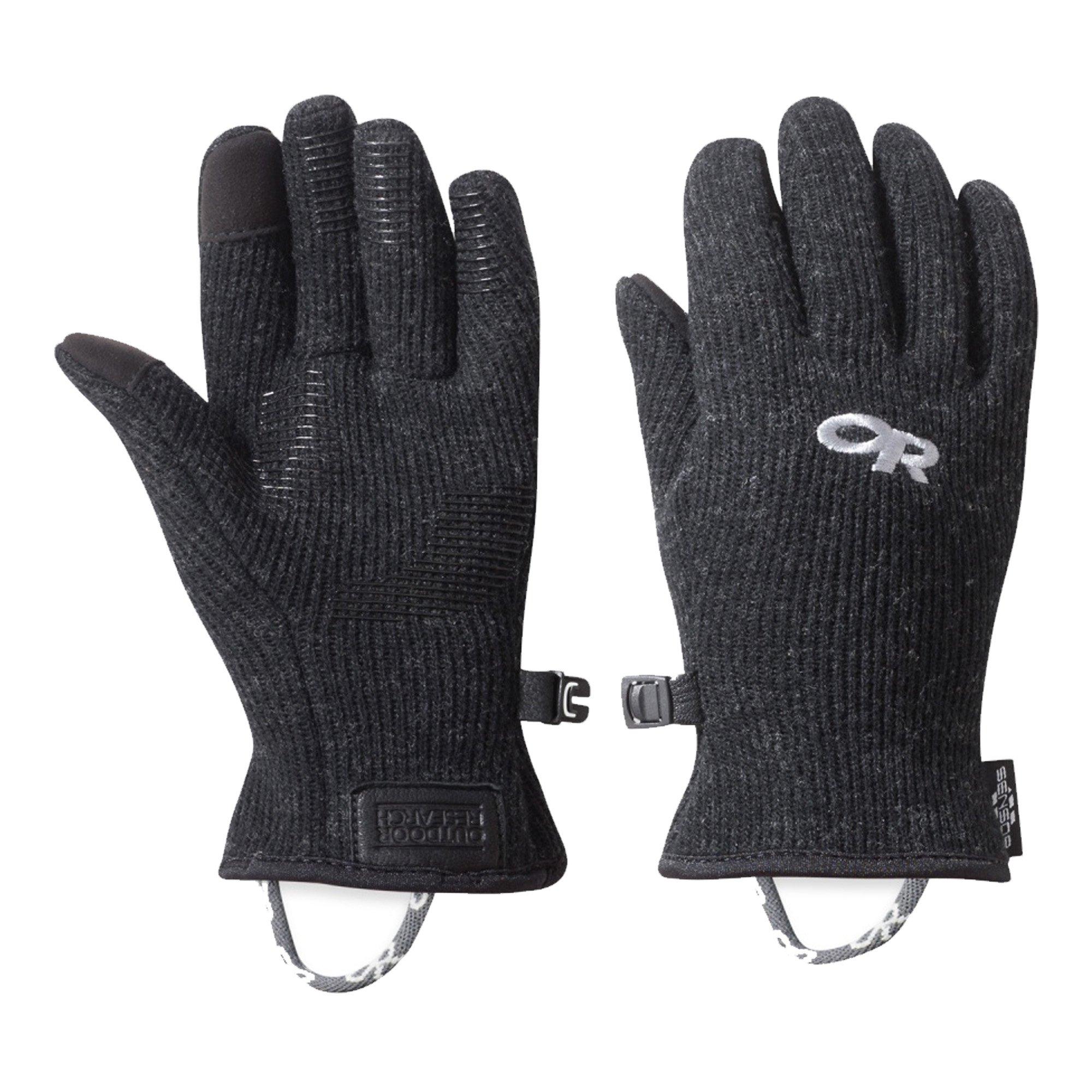 Outdoor Research Kids' Flurry Sensor Gloves, Black, Large