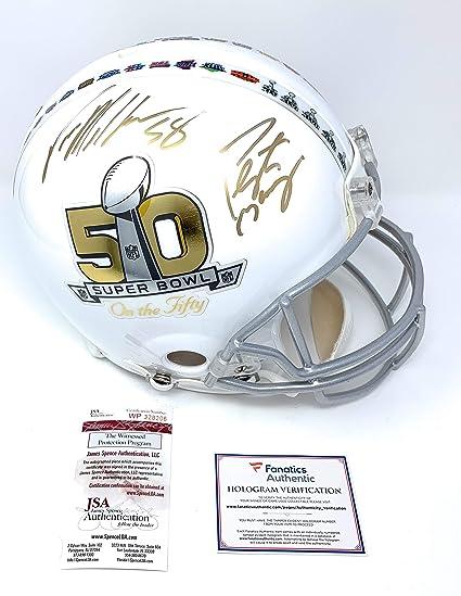 fde43eb9 Amazon.com: Peyton Manning Von Miller Denver Broncos DUAL Signed ...